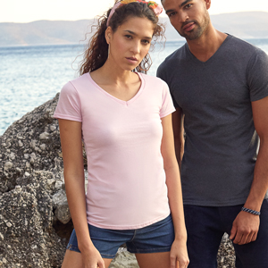 T-shirts - FRUIT of the LOOM - Valueweight V-Neck T Lady-Fit